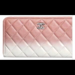 ✨COMING SOON✨ CHANEL Pink/White Ombré Small Wallet